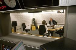 Gwyneth Williams and Roger Bolton recording feedback for BBC Radio 4